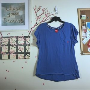 Nike Oversized Blue Pocket T-shirt Large